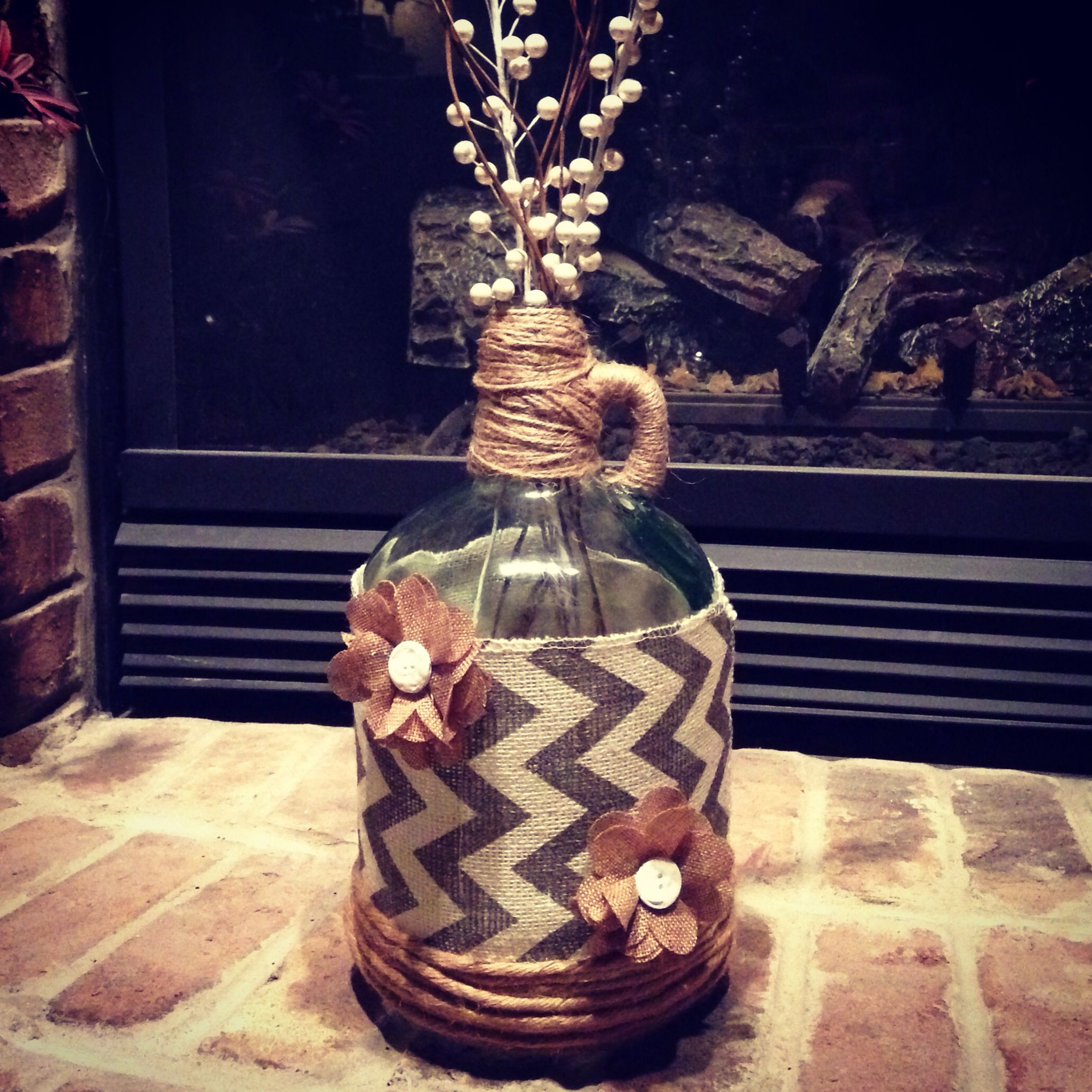 Glass Jar Decorating Ideas Pinterest : Best wine jug crafts ideas on pinterest glass
