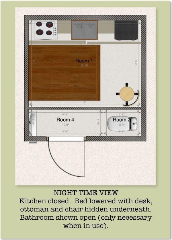 8x8 tiny house design contest mary 2 gridless for 8x8 room design
