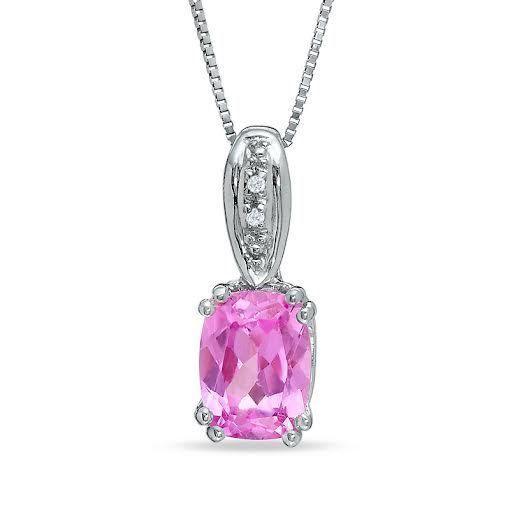 0.50 Ct Beautiful Ladies14 K White Gold Solitaire Oval Cut Pink Sapphire Pendant #discoverdiamond #Pendant