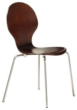 DHP Bentwood Round Side Chair In Espresso (Set Of 2)   Modern   Chairs    Cymax