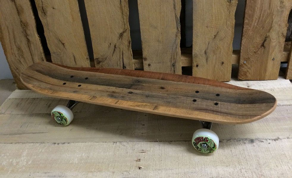 Salvaged Skateboards Made From Old Pallets Cruiser Skateboards Skateboards Skateboard