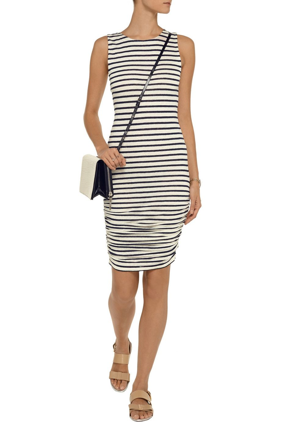 Alice + OliviaStriped linen dress