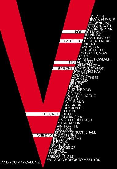 V For Vendetta Speech Poster By Tinster4x4 In 2021 V For Vendetta Speech V For Vendetta Quotes V For Vendetta