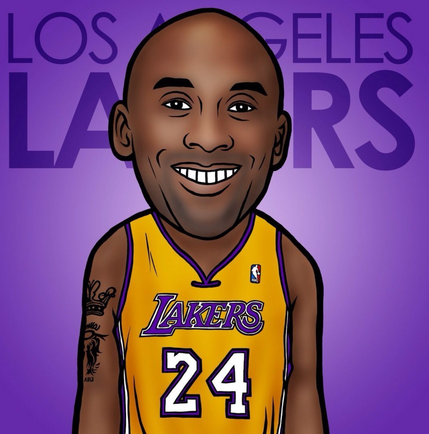 Kobe Bryant Nba Cartoon Image Nba Players Nba Nba Trades