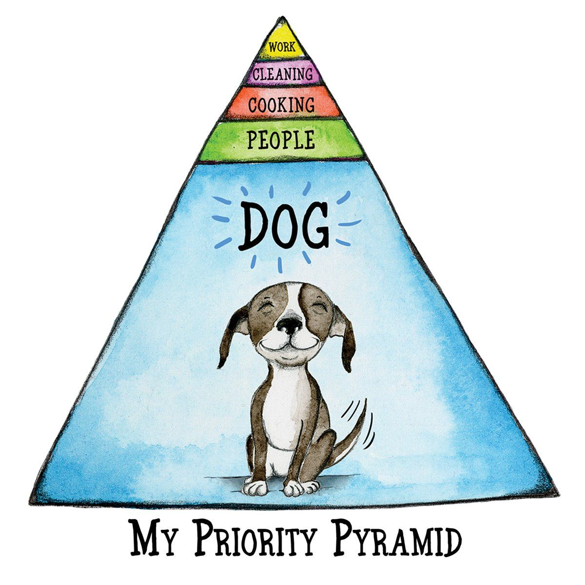 My Priority Pyramid Archival Signed Giclee Print Dog Quotes