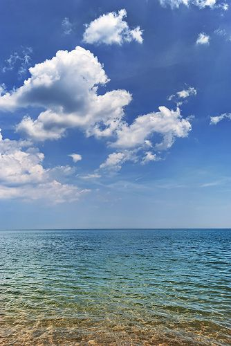 The best is Lake Michigan on a Summer's day in July..