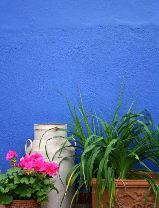 Terraza Azul Decoración De Paredes Para Patios Colores