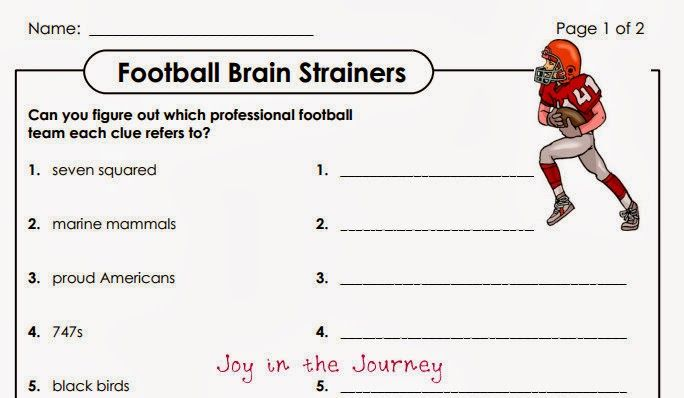 football brain strainers Five for Friday: Football Fever! | Friday football