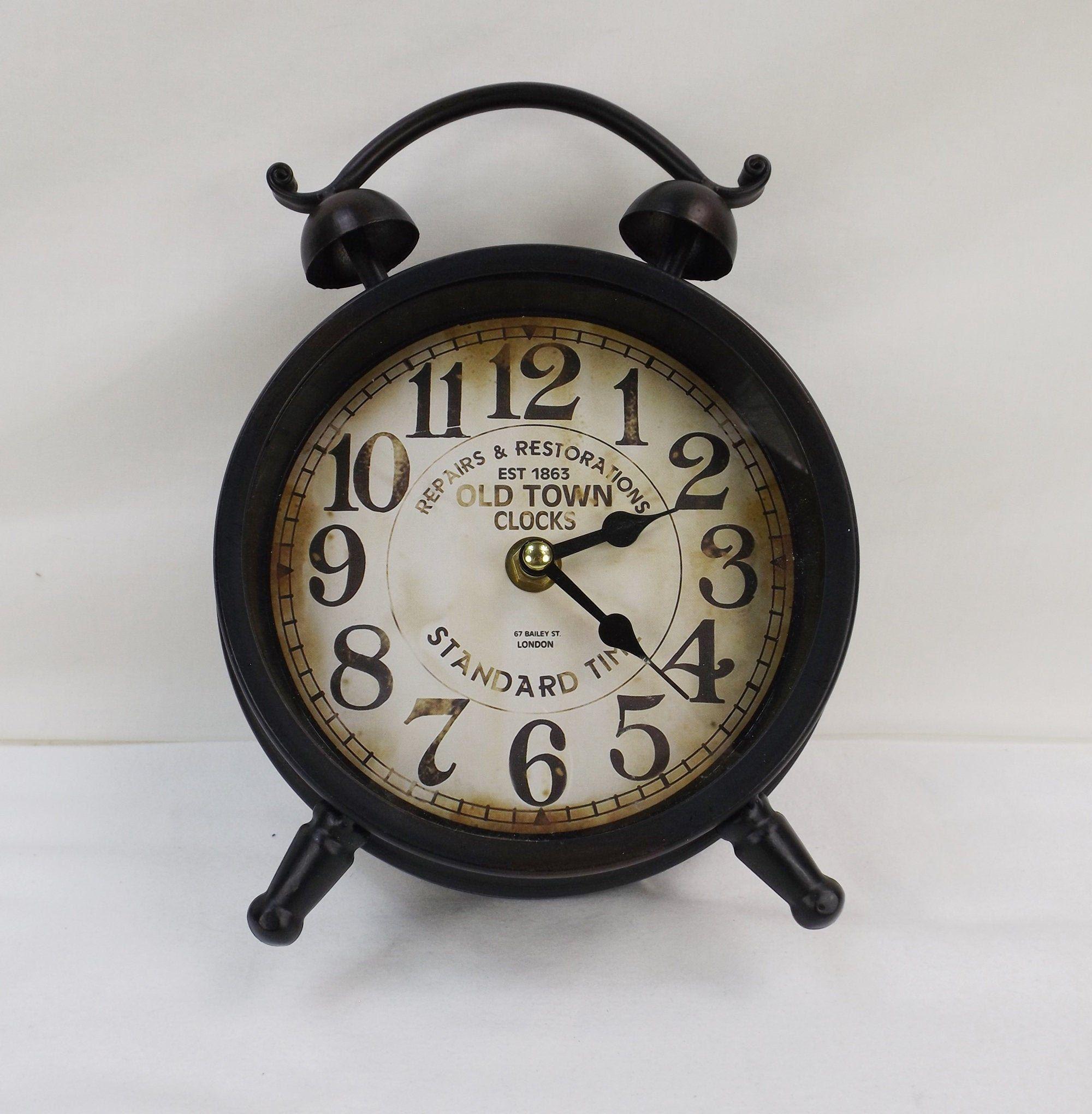 Old Town Clocks Faux Alarm Clock Etsy