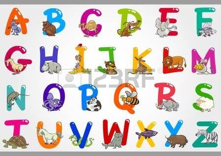 Resumen De Abc El Alfabeto De Color Con Unas Gotas De Color Hermosa Ilustracion Ilustraciones De Dibujos Animados Abecedario Lettering Dibujos