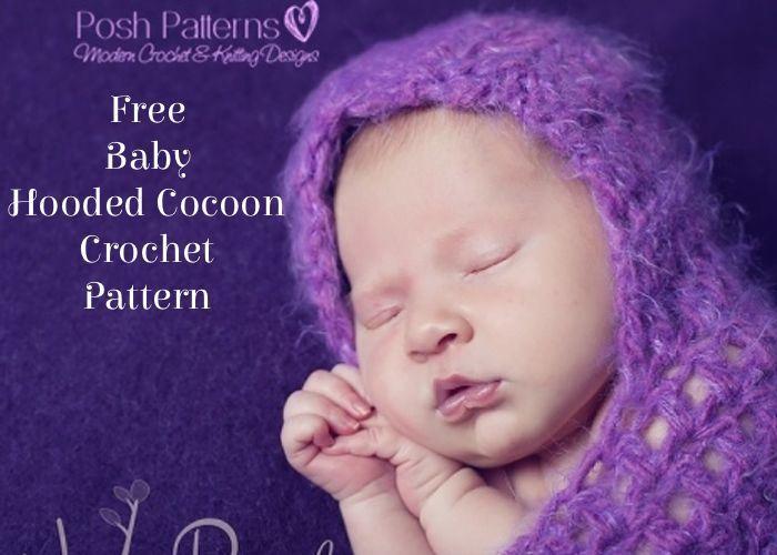 Free Hooded Cocoon Crochet Pattern | Crochet bebe, Ropita de bebe y Bebe
