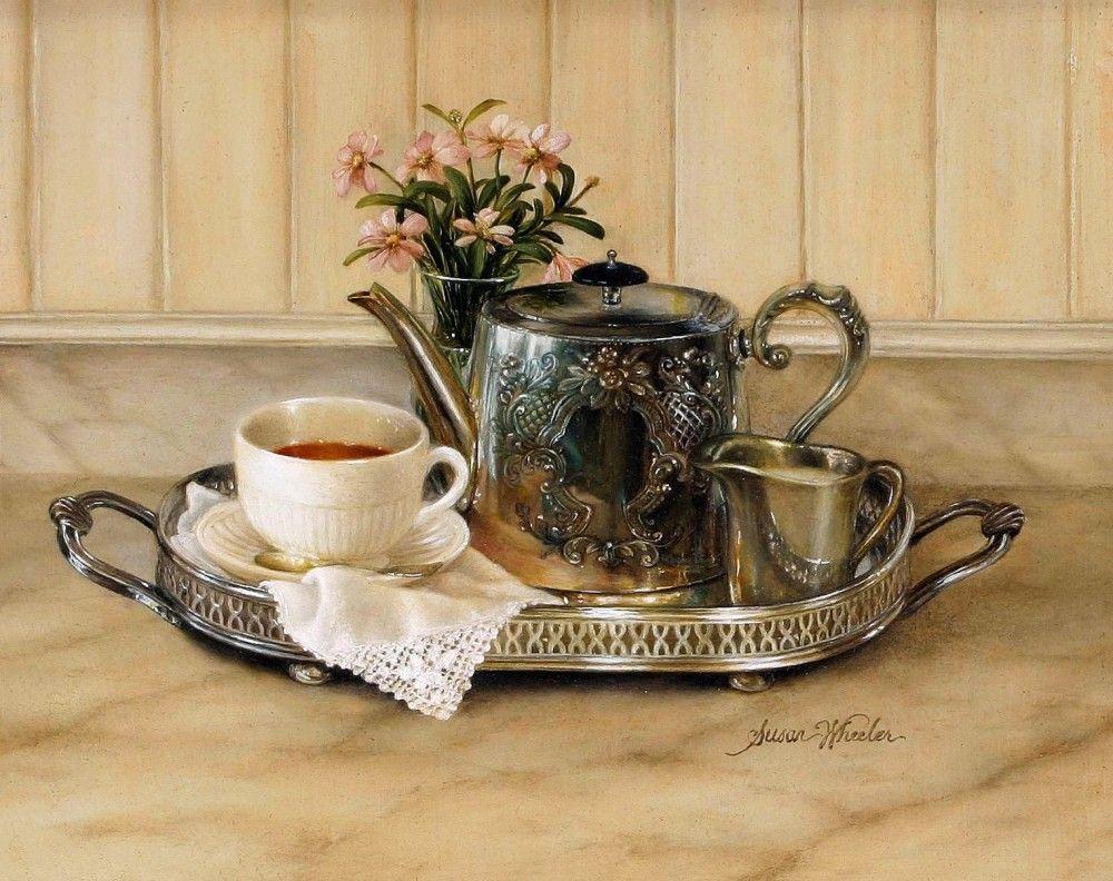 50лет, открытка чайная