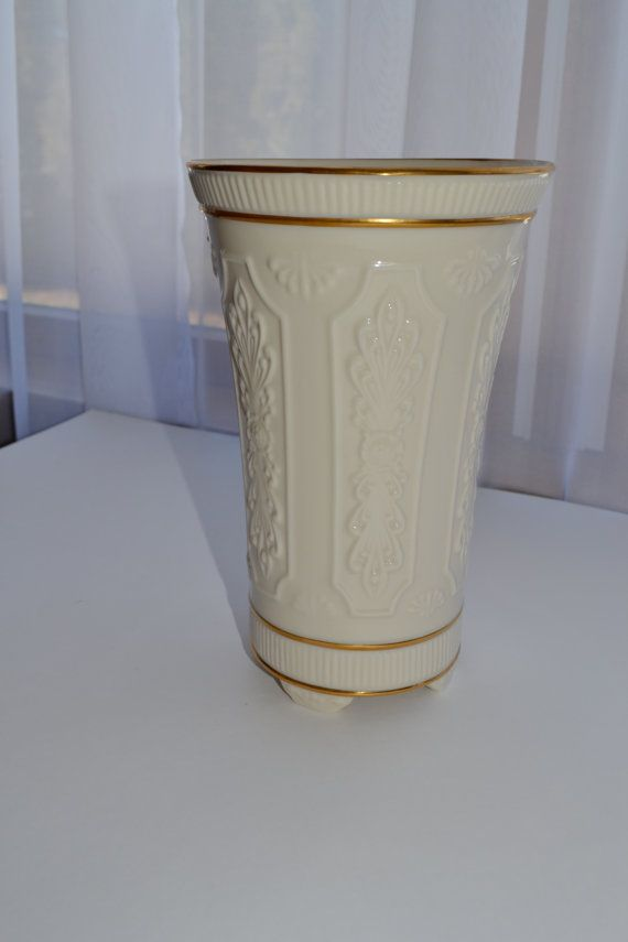 Vintage Lenox Bone China Vase With 24k Gold Trim Vases