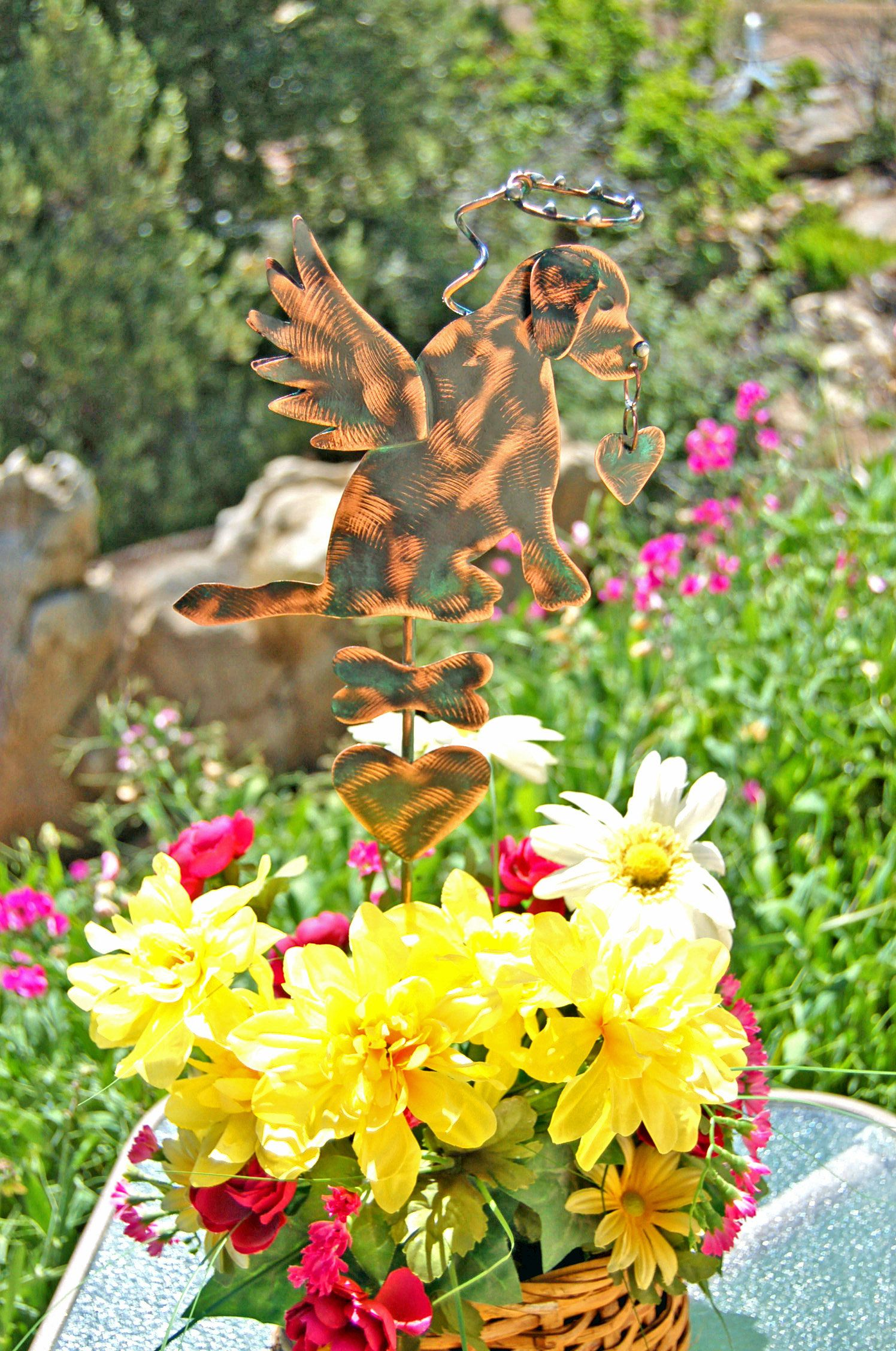 Labrador Retriever, Metal Yard Art, Pet Grave Marker, Outdoor Sculpture,