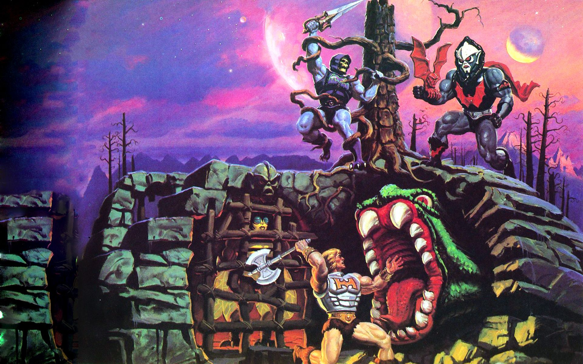 Master Of The Universe Masters Of The Universe Box Art Poster Prints