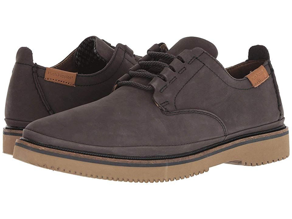 Hush Puppies Bernard Conv Oxford Off Black Nubuck Men S Shoes
