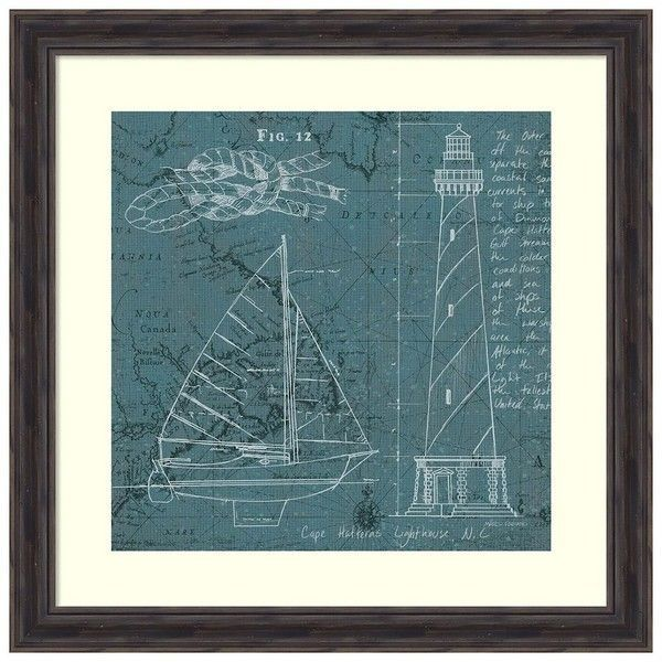 Coatal blueprint iii framed wall art brown 269 liked on amanti art coastal blueprint iii by marco fabiano framed painting print white malvernweather Gallery