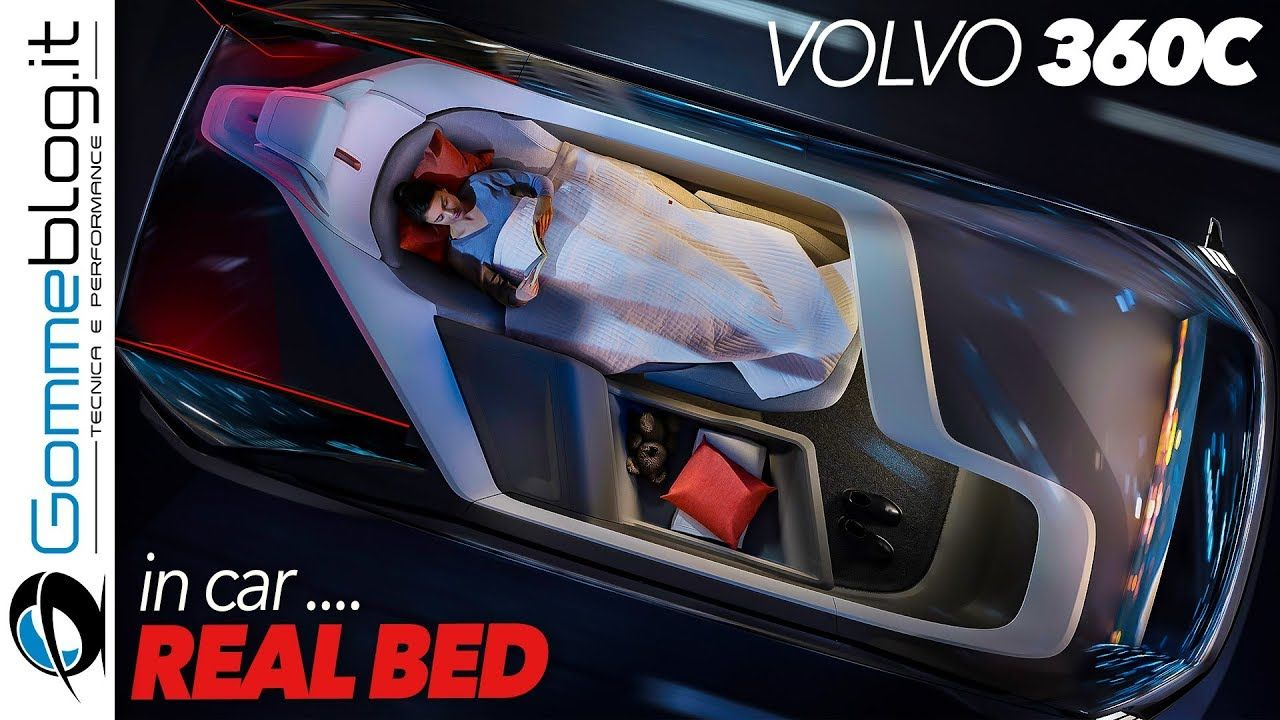 Volvo 360c Autonomous Car with a REAL BED Inside ! TOP