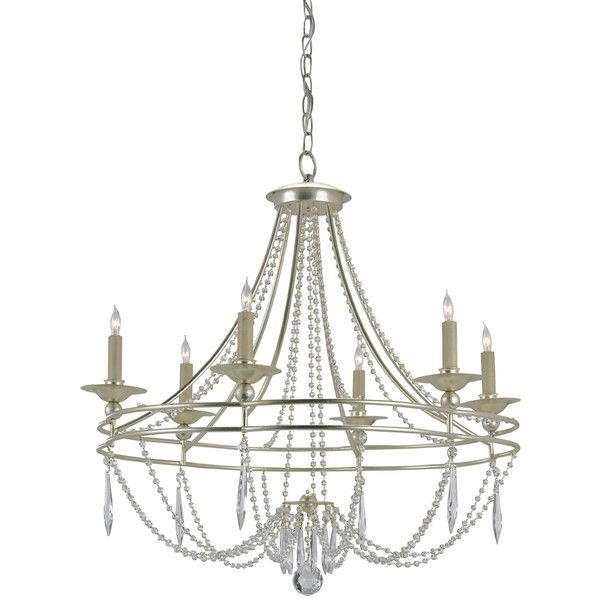 Currey & Company Watteau Chandelier ($1,490) ❤ liked on Polyvore featuring home, lighting, ceiling lights, currey company lighting and currey company chandelier
