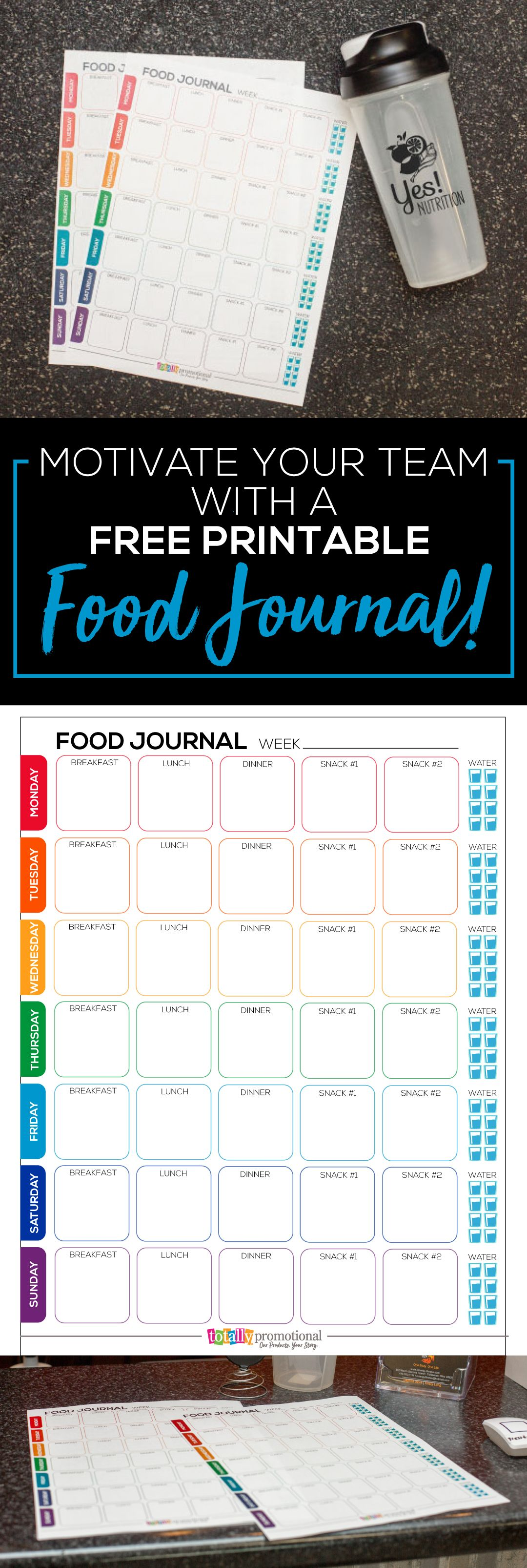 free printable food journal motivate your fitness group daniel