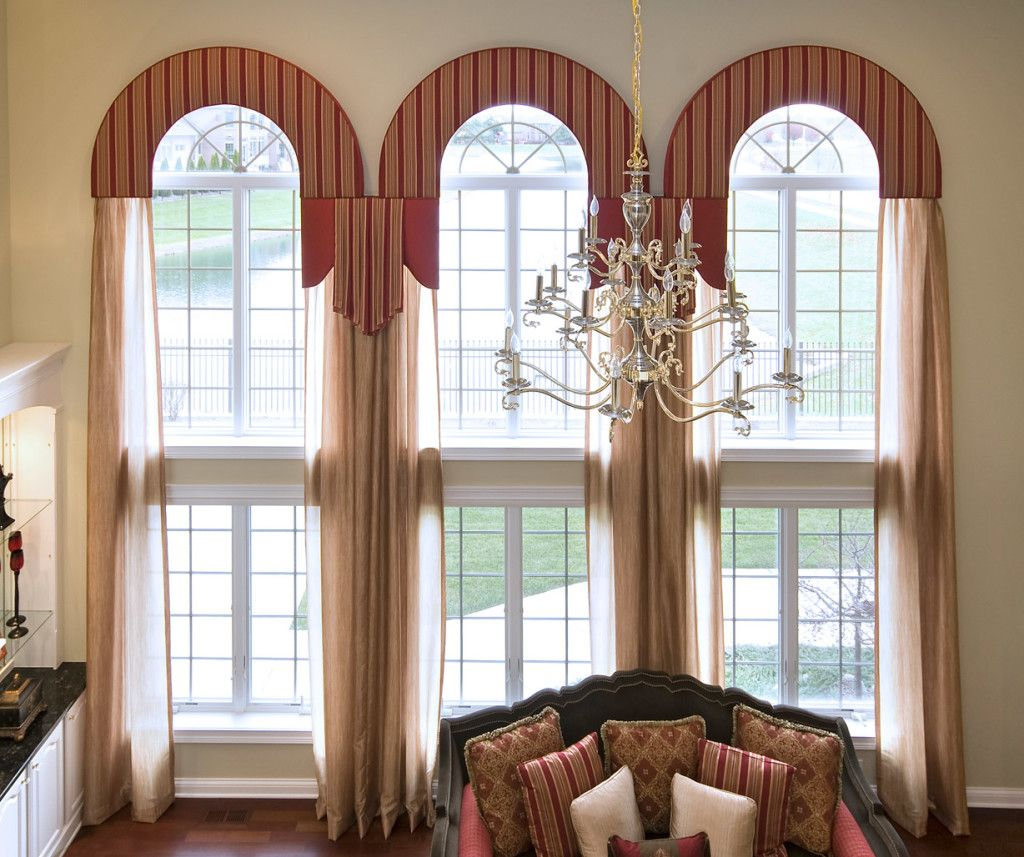Arched window treatments google search arched top for Arched bay windows