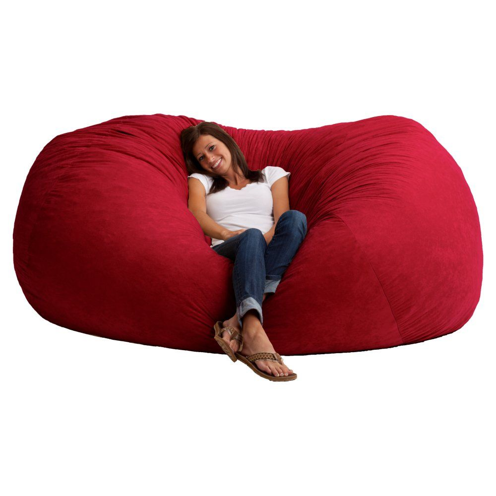 FUF 7 ft. XXL Comfort Suede Bean Bag Sofa - Bean Bags at ...