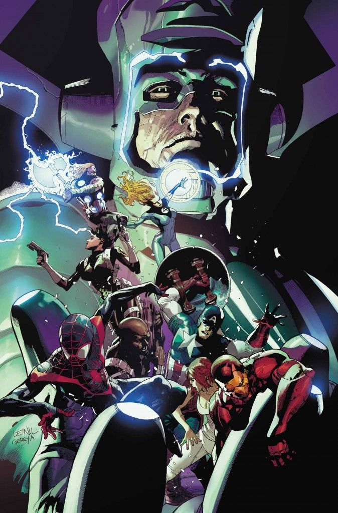 Galactus vs The Ultimates by Mark Bagley | Marvel universe ...  Galactus vs The...