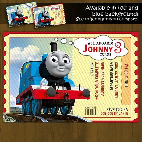 Thomas Train Invitation Thomas and Friends Printable Birthday