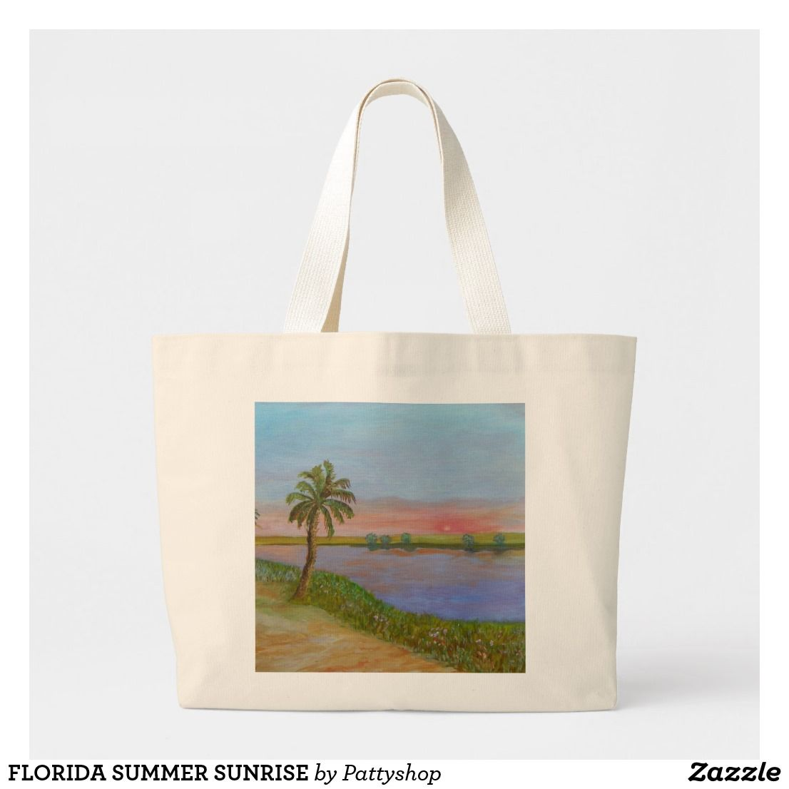 FLORIDA SUMMER SUNRISE LARGE TOTE BAG