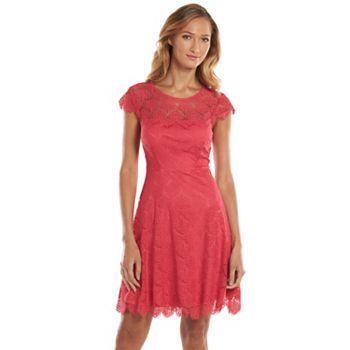 Kash Jess Lace Fit Flare Dress Women S