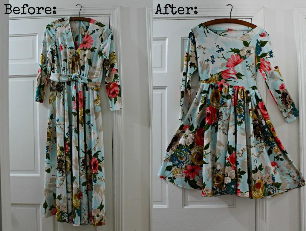 @: Vintage Dress Redo