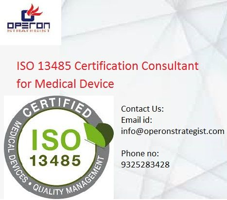ISO 13485 Certification consultant for medical device: ISO 13485 is ...