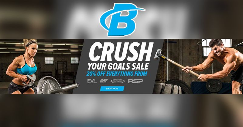 Crush Your Goal Sale 20 Off Everything At Bodybuiding Exercise Body Motivation Workout Health Discount Codes Coupon Promo Codes Bodybuilding