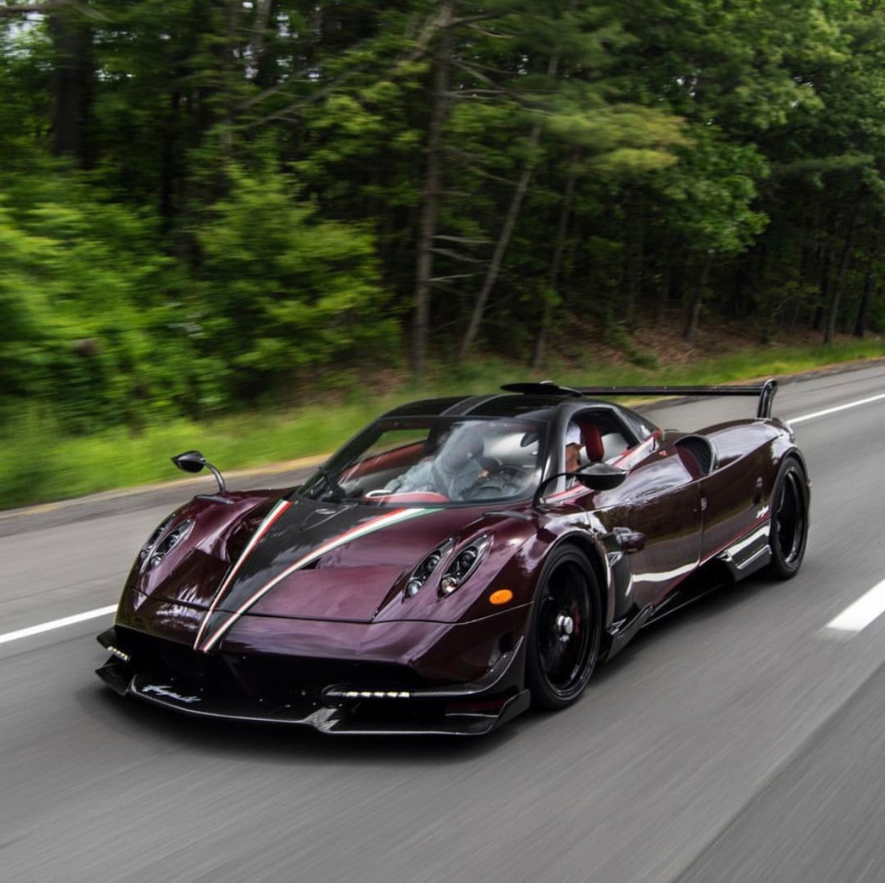 "Pagani Huayra BC ""Kingtasma"" In Red And Black Carbon Fiber"