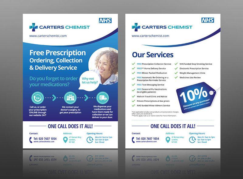 Pharmacy Leaflet Layout Design Ideas Flyer Chemist Nhs Prescription Flyer Example Leaflet Design Leaflet Leaflet Layout