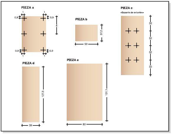Como hacer bricolage plano ropero guardarropa de tablero for Programa para crear muebles de melamina