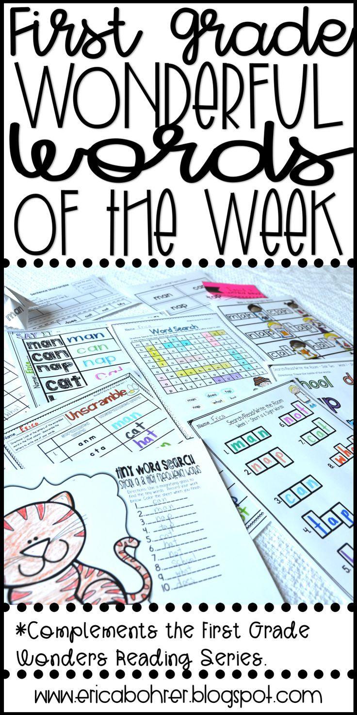 First Grade WONDERful Words of the Week | Wonders reading series ...