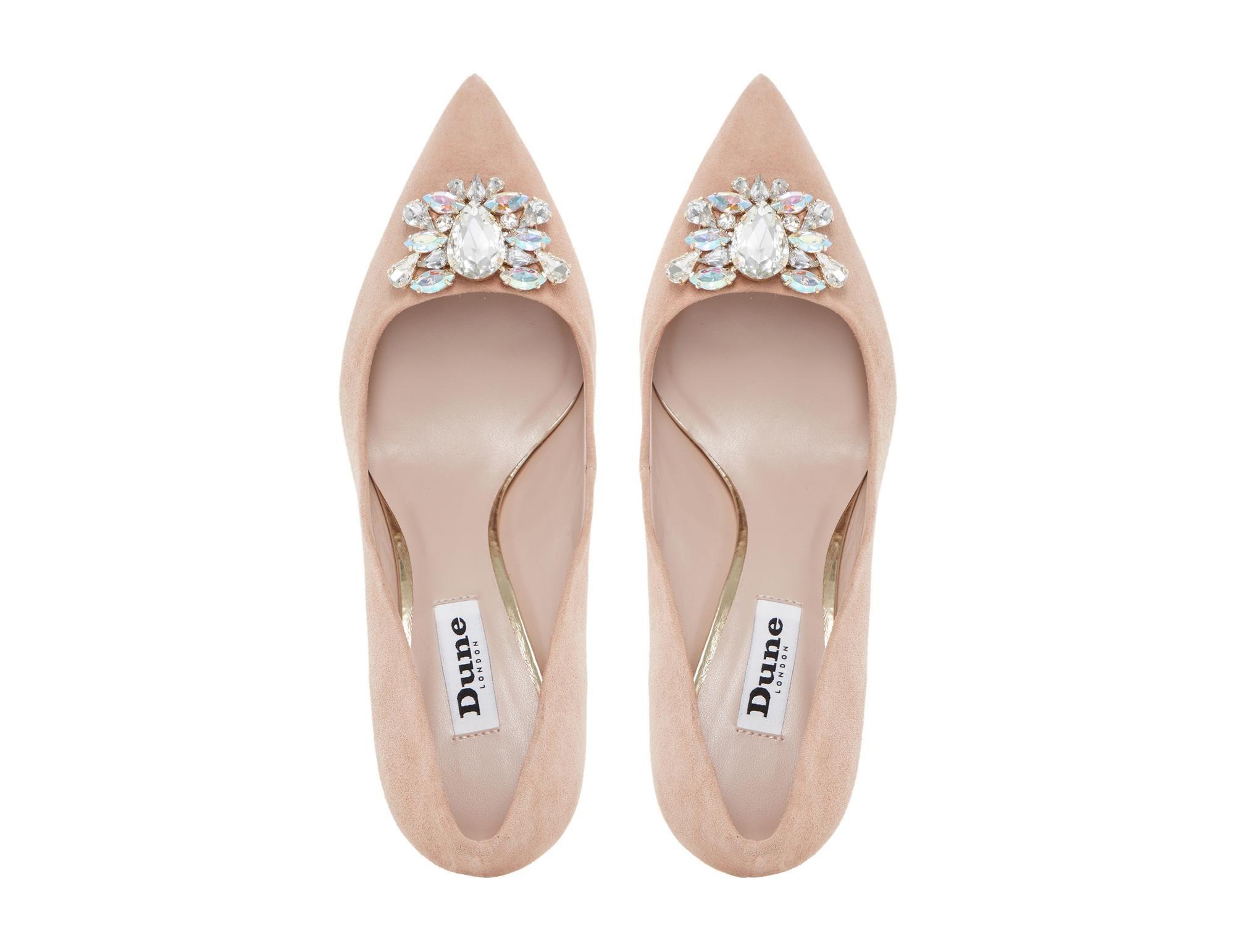 b2b1083f959 DUNE LADIES BELLES - Jewel Trim Mid Heel Pointed Toe Pump - blush ...