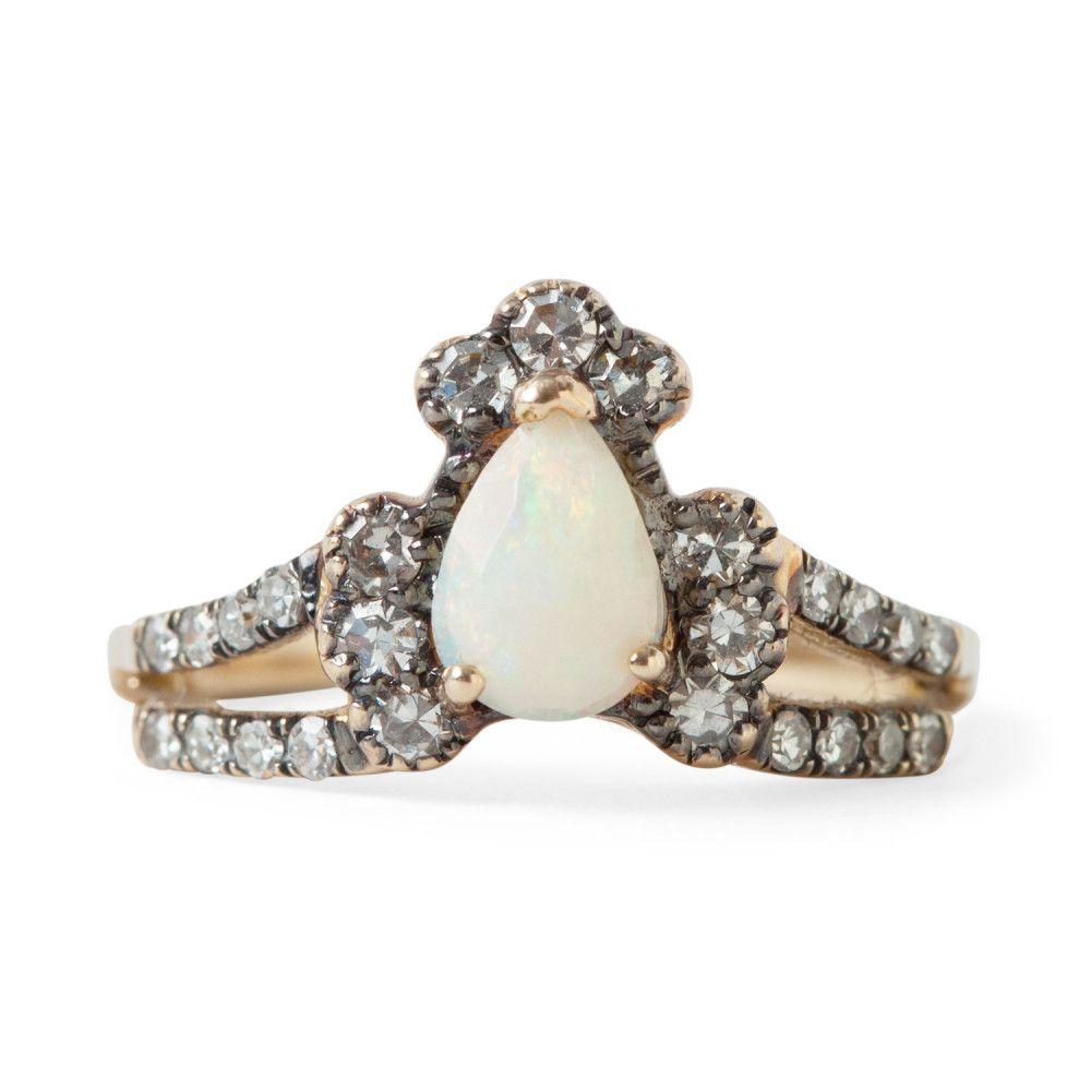 Ritual Solitaire Ring, Opal - Wedding & Engagement - Catbird