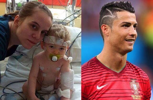Que lindo gesto do Cristiano Ronaldo! O design do seu corte de - corte de cristiano ronaldo