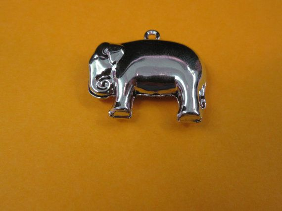 Silver Toned Elephant Charm by MidtownJL on Etsy, $5.00