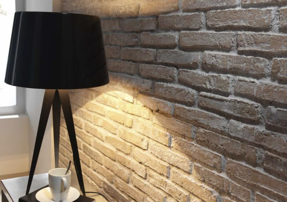 PR 79 - Faux brick wall panels Earthy whitewashed Rustic Brick ...