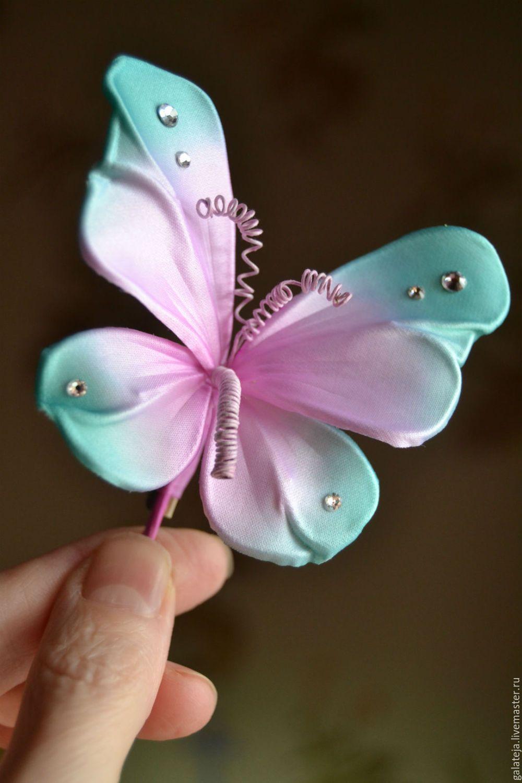 Бабочки своими руками из шелка фото 181