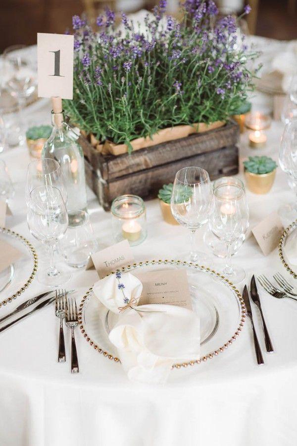 Rustic Norwegian Wedding at Follo Museum | Lavender centerpieces ...