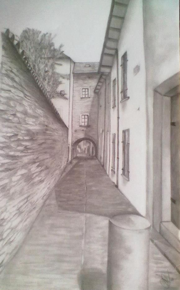 borgo Berceto disegno a matita