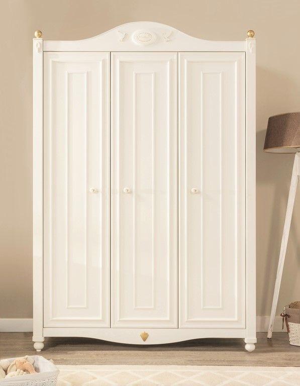 3 Deurs Kledingkast Wit.Geweldige 3 Deurs Kledingkast In Geheel In Het Wit De Kledingkast