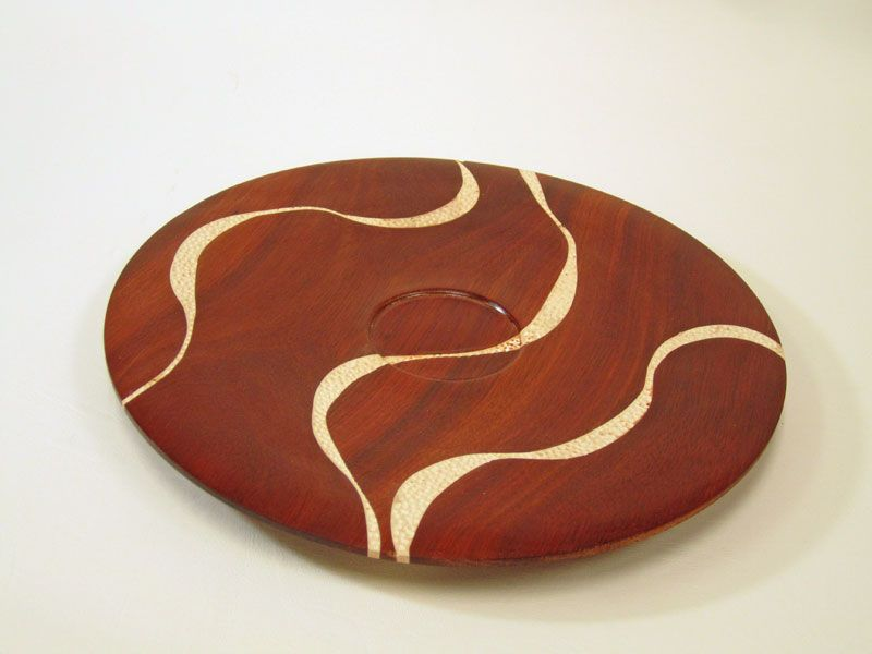 Bloodwood, Epoxy, Artist Oil Platter By Dave Macinnes