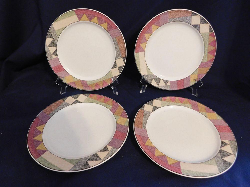 Mikasa Studio Nova Palm Desert Salad Plates 4 Oven Dishwasher