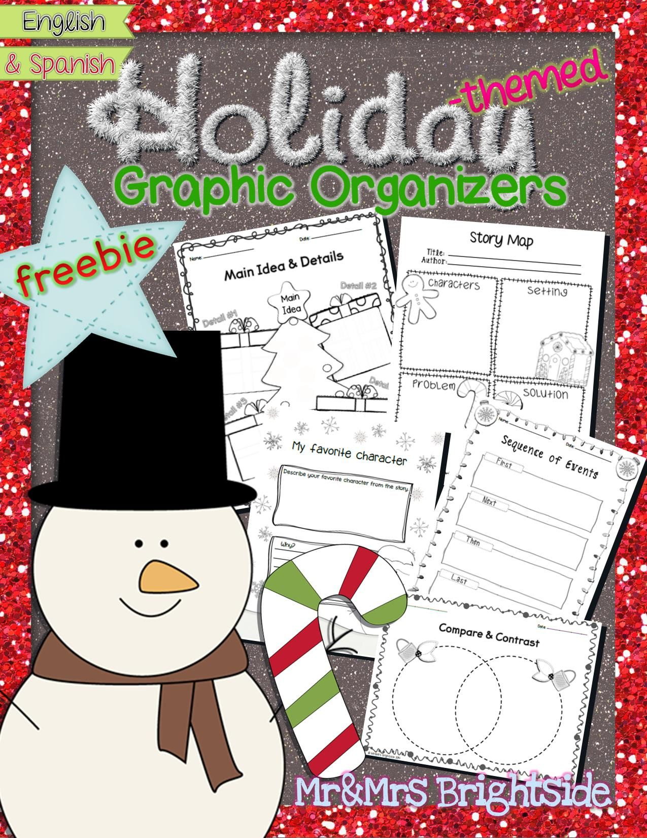 Holiday Themed Graphic Organizers