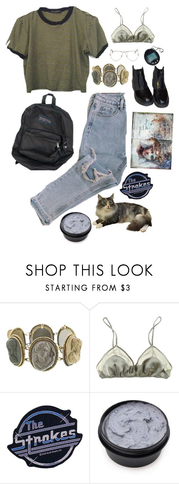 """""""bts outfit"""" by diana-zuzana-justova ❤ liked on Polyvore featuring La Fée Verte, CO and Ray-Ban"""